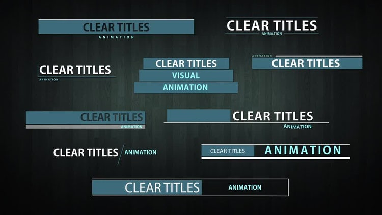 Clear Titles: After Effects Templates