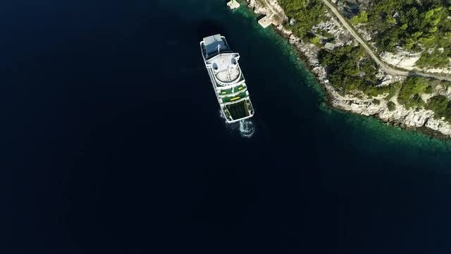 Overhead Shot Of A Boat: Stock Video