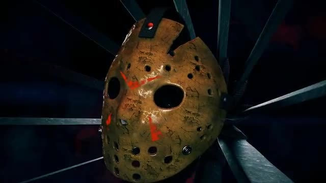 Scary Hockey Mask With Machetes: Stock Motion Graphics