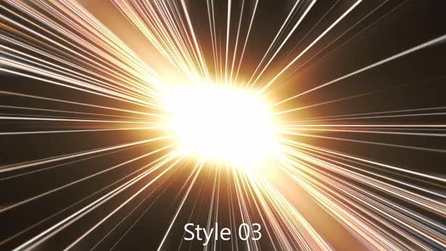 Space Warp Light Beams Pack: Stock Motion Graphics