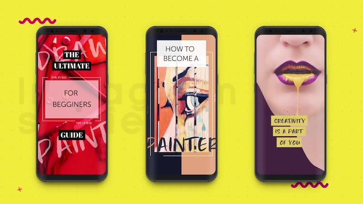 Instagram Stories: Aesthetic: After Effects Templates