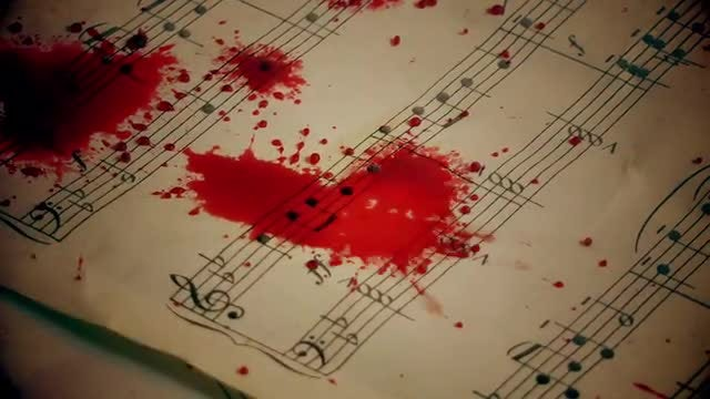 Blood On Music Sheets: Stock Video