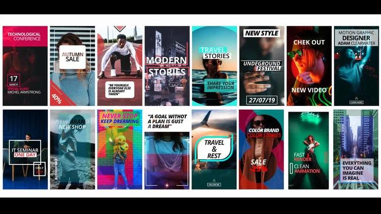 16 Instagram Stories: Premiere Pro Templates