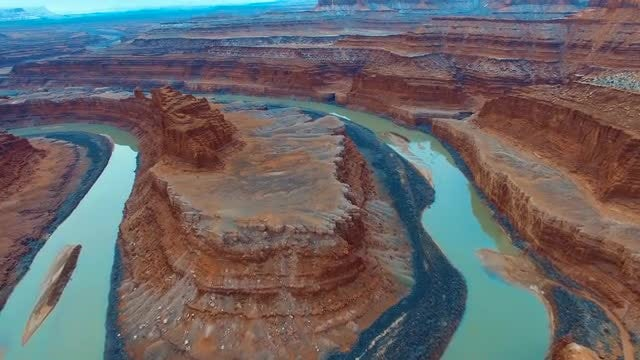 Horseshoe Canyon In The Desert: Stock Video