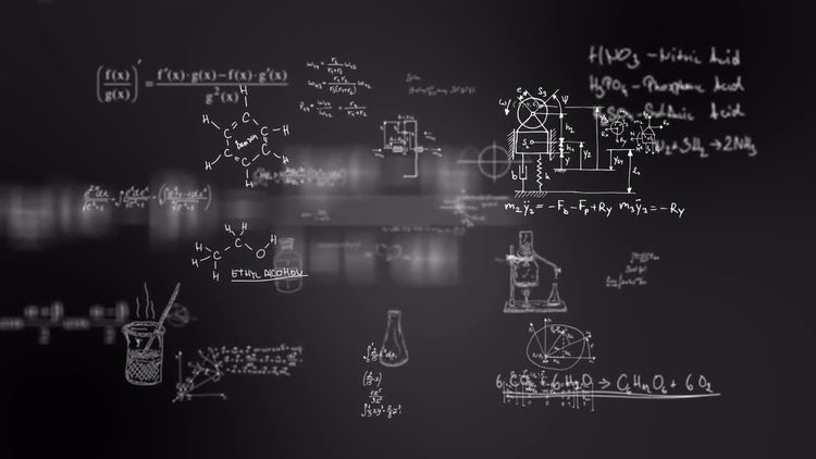 fly through differents formulas: Stock Motion Graphics