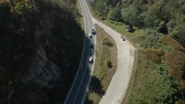 Mountain Traffic, Overtaking A Tractor: Stock Video