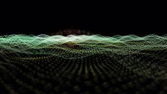 Colorful Particles Sea Loop: Stock Motion Graphics