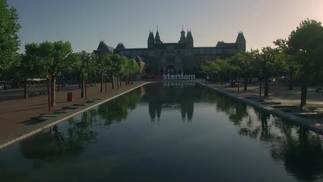 Revealing Shot Of Amsterdam City: Stock Video