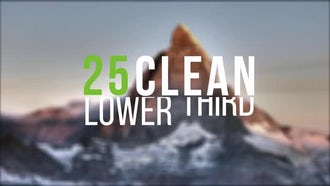 25 Clean Lower Third: After Effects Templates