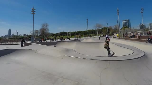 Time Lapse Of A Skatepark: Stock Video