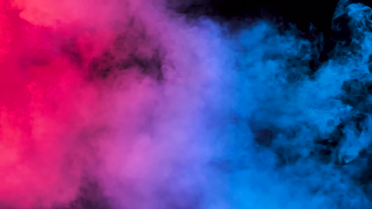 Smoke Over Blue Red Lights Stock Video Motion Array