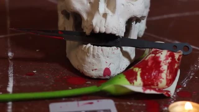 Bloody Occult Ritual: Stock Video