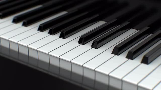Moving Piano Keys: Stock Motion Graphics
