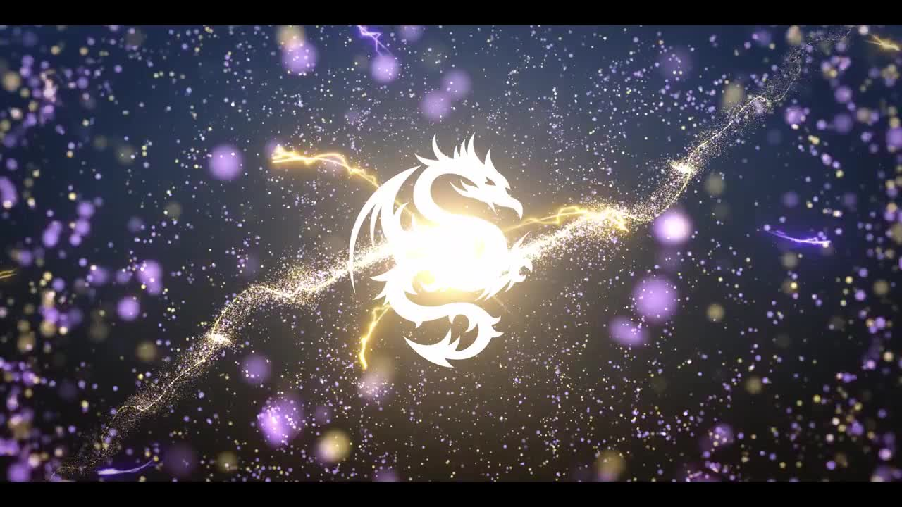 Space Particle Logo Reveal 133400 + Music