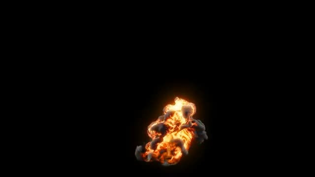 Fiery Explosion: Stock Motion Graphics