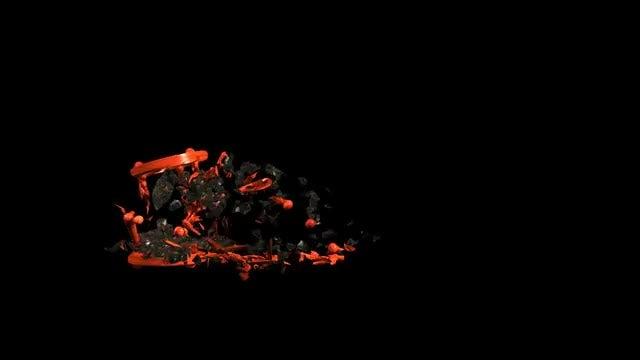 Hourglass Destruction: Stock Motion Graphics