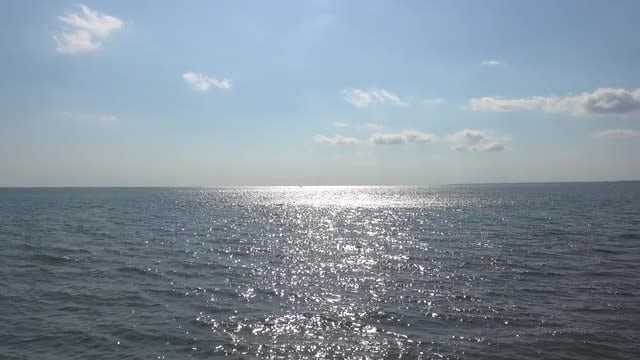 Wide-angle Shot Of Calm Ocean: Stock Video