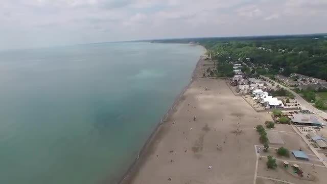 Aerial Shot Of A Beach: Stock Video