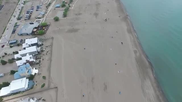 Flying Over An Empty Beach: Stock Video