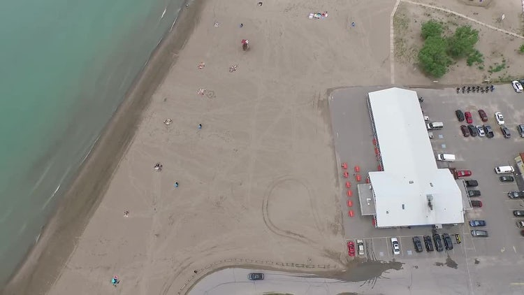 Parking Lot Near The Beach: Stock Video