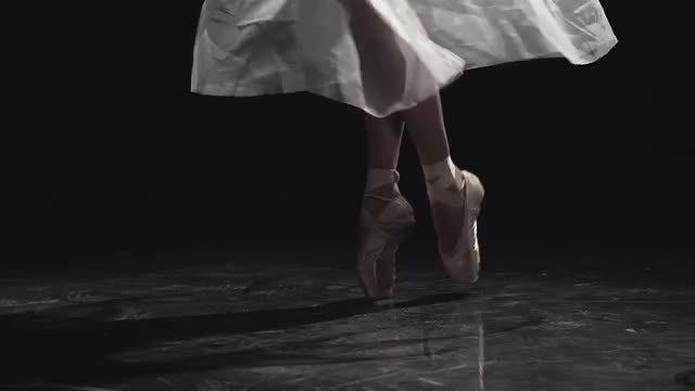 Feet Of A Ballerina Dancer: Stock Video
