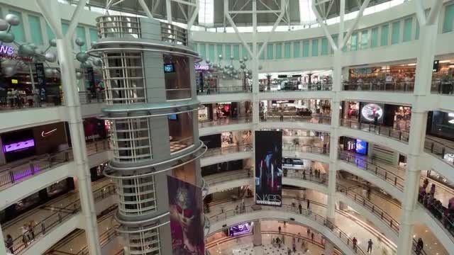 Malaysian Mall With Customers: Stock Video