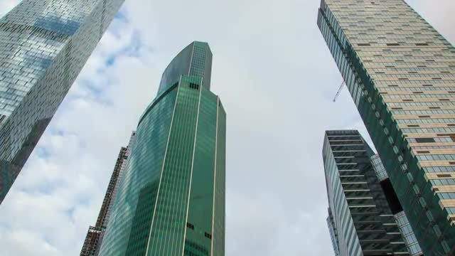 Time Lapse Of Modern Skyscrapers: Stock Video
