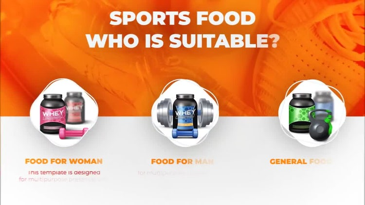 Sport Drink And Food Promo: After Effects Templates