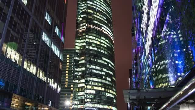 Time Lapse Of Skyscrapers: Stock Video