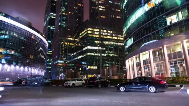Time Lapse Of Busy Street: Stock Video