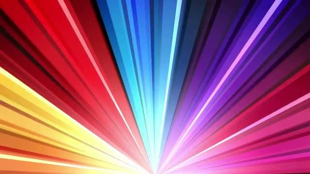 Rainbow Disco Rays 4K Background: Stock Motion Graphics