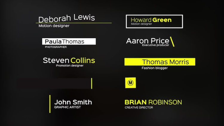 10 Stylish Lower Thirds: After Effects Templates