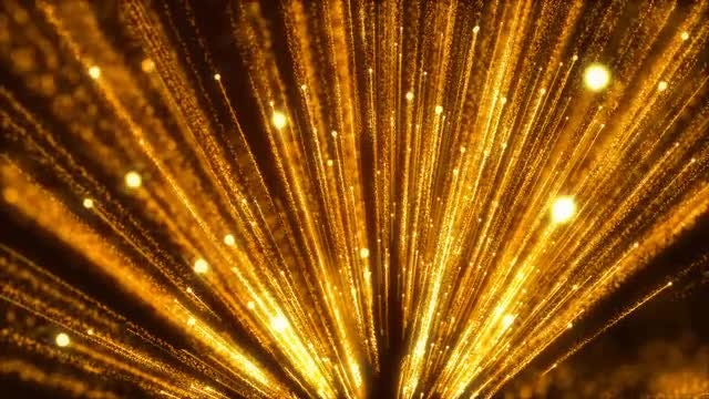 Glowing Gold Streaks Spread: Stock Motion Graphics