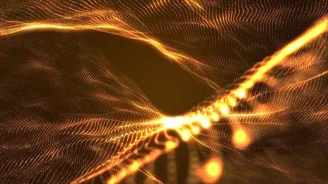 Gold Glowing Waves: Stock Motion Graphics