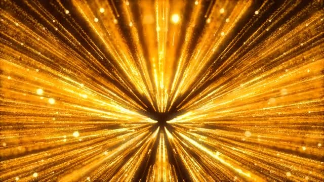 Gold Particles Running Inward: Stock Motion Graphics