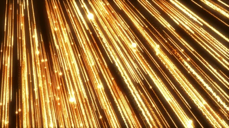 Gold Streaks With Downward Lights: Stock Motion Graphics