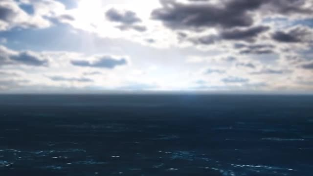 Animation Of Dark Ocean Waves: Stock Motion Graphics