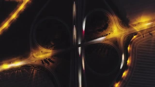 Night Traffic: Stock Video