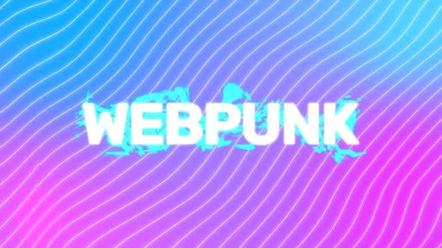 Web Punk Logo Reveal: After Effects Templates
