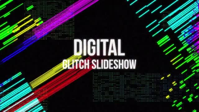 Digital Glitch Slideshow: Premiere Pro Templates