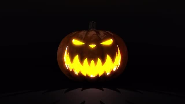 Evil Halloween Pumpkin: Stock Motion Graphics