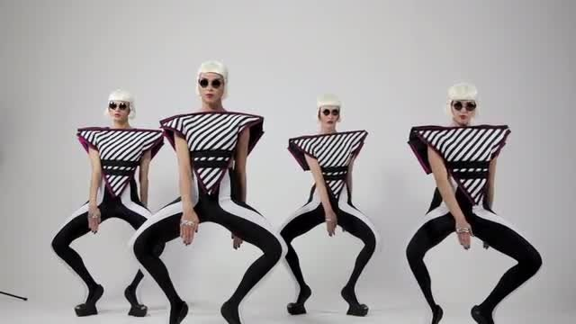 Surreal, Futuristic Dancing Girls: Stock Video