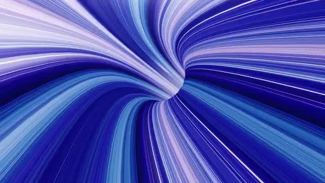 Blue Streaks Wormhole Time Vortex: Stock Motion Graphics