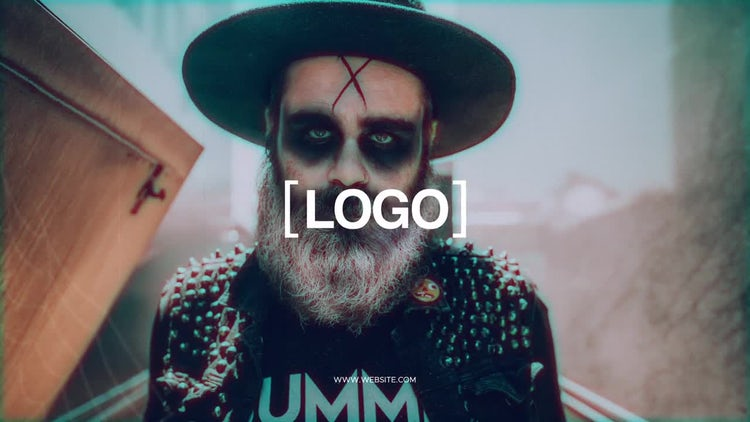 Halloween Glitch Intro: After Effects Templates