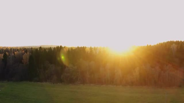 Sun Along The Mountain Horizon: Stock Video
