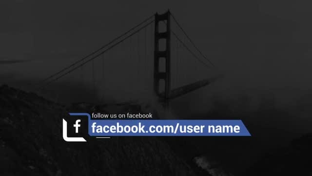 Minimal Social Lower Thirds: After Effects Templates