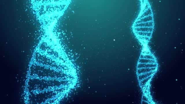 DNA Helix Rotation Background: Stock Motion Graphics