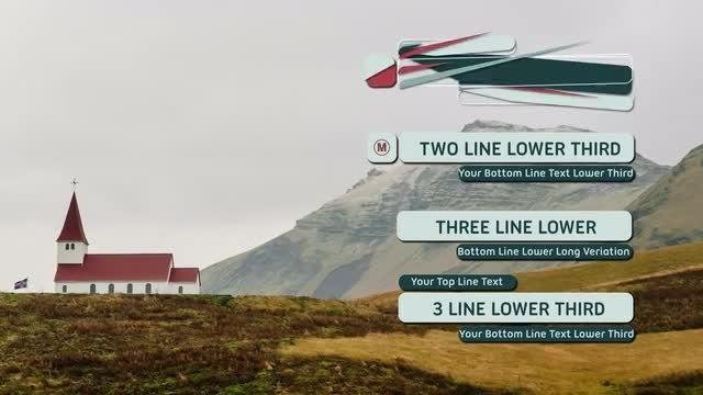 Abstract Lower Thirds: After Effects Templates