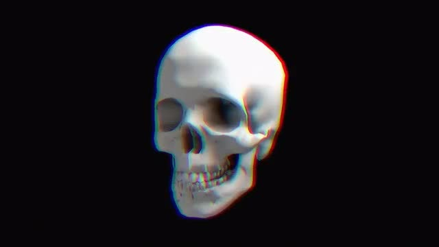 Rotating Skull Hologram: Stock Motion Graphics