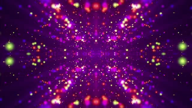 Psychedelic Particles Background: Stock Motion Graphics
